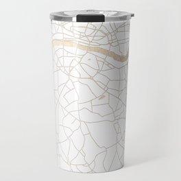 White on Gold London Street Map Travel Mug