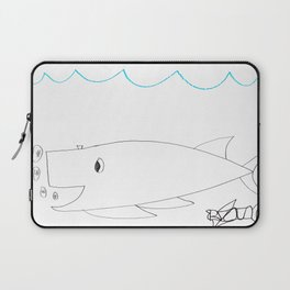 Burping Whale Laptop Sleeve