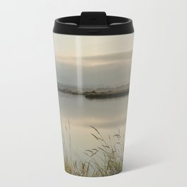 Light Falling Softly On The Marsh Travel Mug