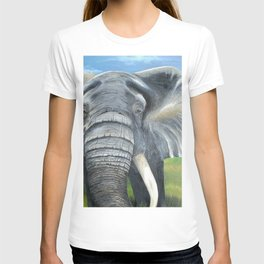 Elephant, Male Elephant Painting T-shirt