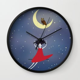 Swing me to the stars Wall Clock