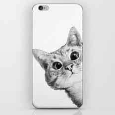 sneaky cat iPhone & iPod Skin