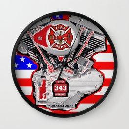 Fire Dept Tribute Wall Clock