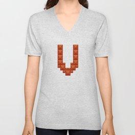 "Letter ""V"" print in beautiful design Fashion Modern Style Unisex V-Neck"