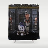 sci fi Shower Curtains featuring Sexy Sci-Fi by gypsykissphotography