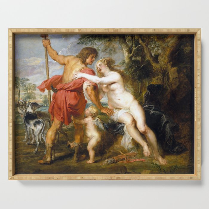 Peter Paul Rubens Venus and Adonis Serving Tray