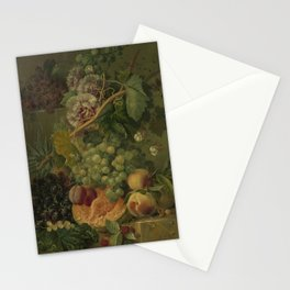Still Life with Flowers and Fruits, Albertus Jonas Brandt (1816 - 1817) Stationery Cards