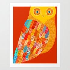 Terracotta Owl Art Print