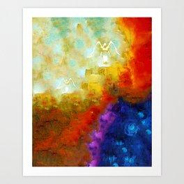 Angels Among Us - Emotive Spiritual Healing Art Art Print