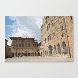 Volterra medieval village in summer Canvas Print