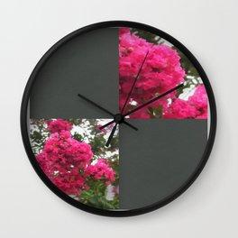 Crape Myrtle Blank Q6F0 Wall Clock