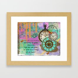 Clock and Time Framed Art Print