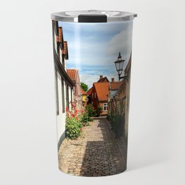 Narrow streets of Ribe Travel Mug