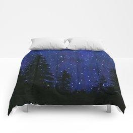 Twinkle, Twinkle, Stars Night Sky Painting Comforters
