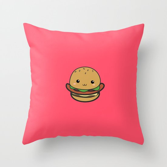 Cute Hamburguer Throw Pillow