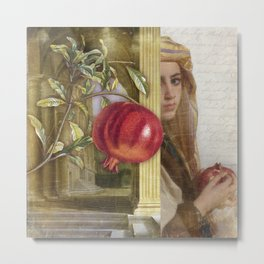 The Pomegranate Eater Metal Print