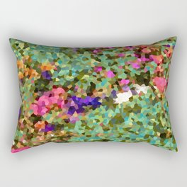 Crystal Flowers Rectangular Pillow