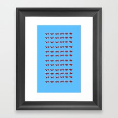Pixel foxes Framed Art Print