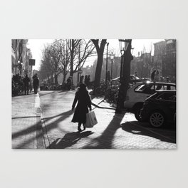 Monochrome street view Canvas Print