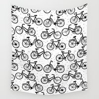 bikes Wall Tapestries featuring Bikes by sarknoem
