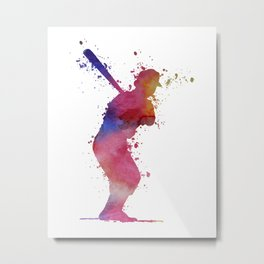 Baseball Player Metal Print