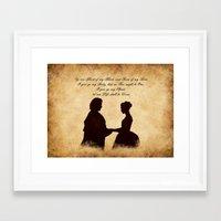 outlander Framed Art Prints featuring Outlander wedding by QINdesign