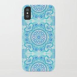 Blue Lotus Mandala iPhone Case