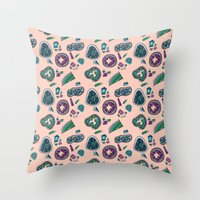 geode Throw Pillows featuring Geode by daintyish