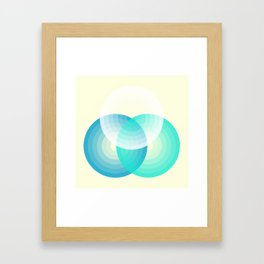 Three colour circles inverted, inspired by Lacouture's Répertoire chromatique Framed Art Print
