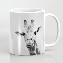 Giraffe 2 - Black & White Coffee Mug