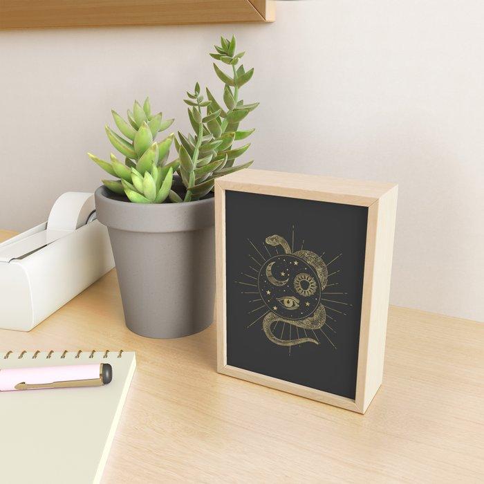 Shakti Snake Energy Framed Mini Art Print