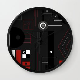 Black & Red compo_1 Wall Clock