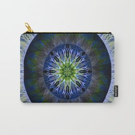 Mandala in Blue and Yellow Carry-All Pouch