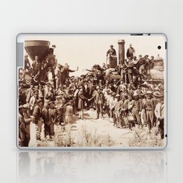 Transcontinental Railroad - Golden Spike Ceremony Laptop & iPad Skin
