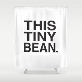 This Tiny Bean Logo Shower Curtain