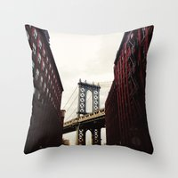 dumbo Throw Pillows featuring DUMBO by Britannie Bond
