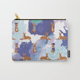 Pharaoh Hounds Pattern Splatters Carry-All Pouch