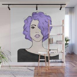 Lavender Girl Wall Mural