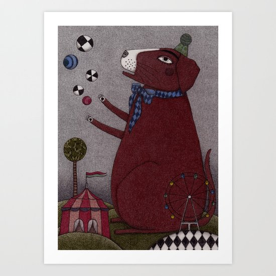 It's a Dog! Art Print