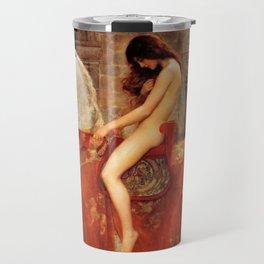 1897 Classical Masterpiece 'Lady Godiva' by John Collier Travel Mug