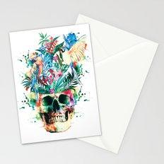Skull - Parrots Stationery Cards