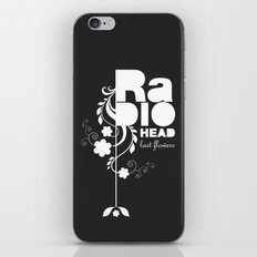 Radiohead song - Last flowers illustration white iPhone & iPod Skin