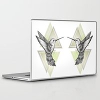 hummingbird Laptop & iPad Skins featuring Hummingbird by Barlena