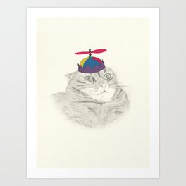 Nelly in the Helicopter Hat Art Print