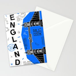 England typography art Stationery Cards