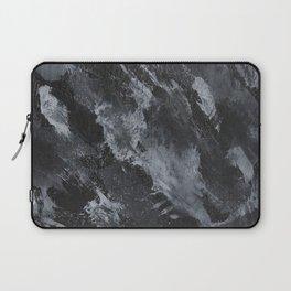 White Ink on Black Background #3 Laptop Sleeve