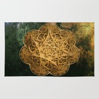 celtic Area & Throw Rugs featuring Celtic Gold by Lynn Bolt