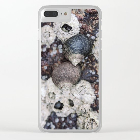 Periwinkles and Barnacles on a rock Clear iPhone Case