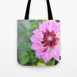 Marquette Pink Flower Tote Bag