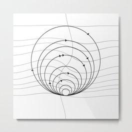 CIRCULAR_DIRECTIONS Metal Print